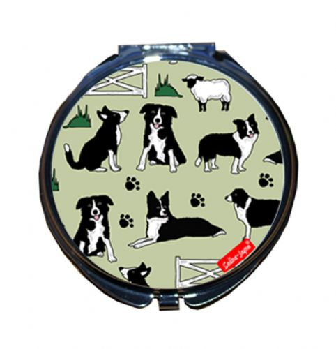 Selina-Jayne Border Collie Limited Edition Compact Mirror